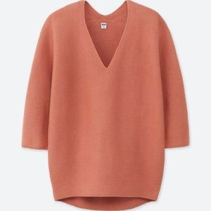 BNWT Uniqlo 3D Knit Cotton Cocoon Sweater Pink